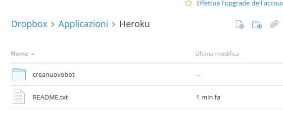 heroku app su dropbox