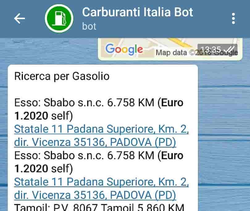 italiacarburantibot screen