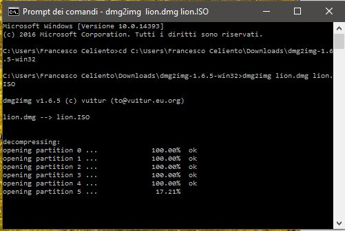 dmg2img execute command