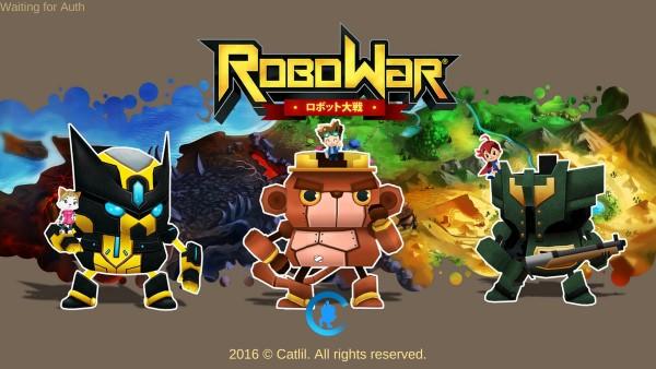 robowar androd game screen intro
