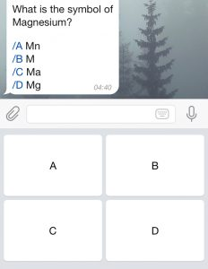 telegram keyboard